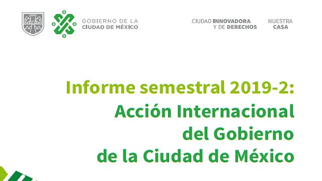 Informe Semestral de Acción Internacional 2019-2